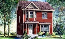 House Plan 52717 Elevation