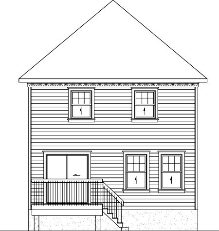 House Plan 52720 Rear Elevation
