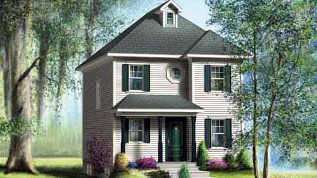 House Plan 52721 with 2 Beds, 2 Baths Elevation