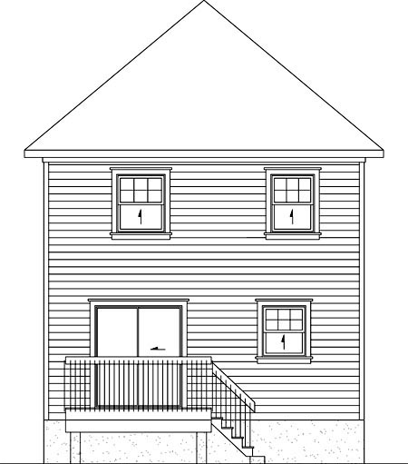 House Plan 52722 Rear Elevation