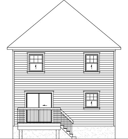 House Plan 52725 Rear Elevation