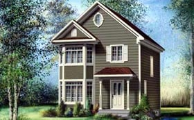 House Plan 52728 Elevation