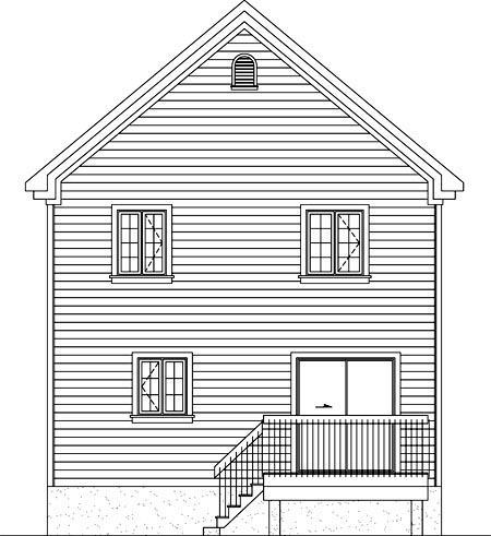 House Plan 52729 Rear Elevation