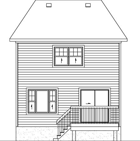 House Plan 52730 Rear Elevation