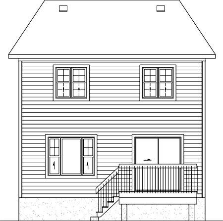 House Plan 52732 Rear Elevation