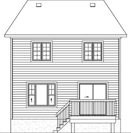 House Plan 52733 Rear Elevation