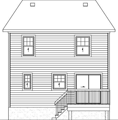 House Plan 52736 Rear Elevation