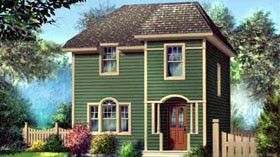 House Plan 52737   Style Plan with 1264 Sq Ft, 2 Bedrooms, 2 Bathrooms Elevation