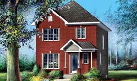 House Plan 52738 with 3 Beds, 2 Baths Elevation
