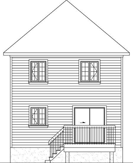 House Plan 52738 Rear Elevation