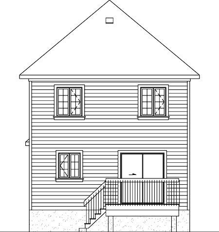 House Plan 52739 Rear Elevation