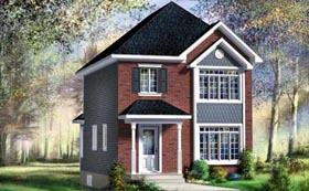 House Plan 52740 Elevation