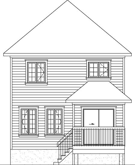 House Plan 52740 Rear Elevation