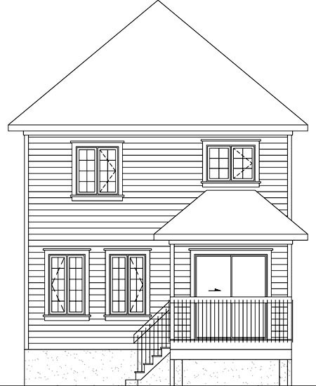 House Plan 52741 Rear Elevation