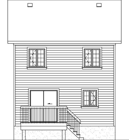 House Plan 52743 Rear Elevation
