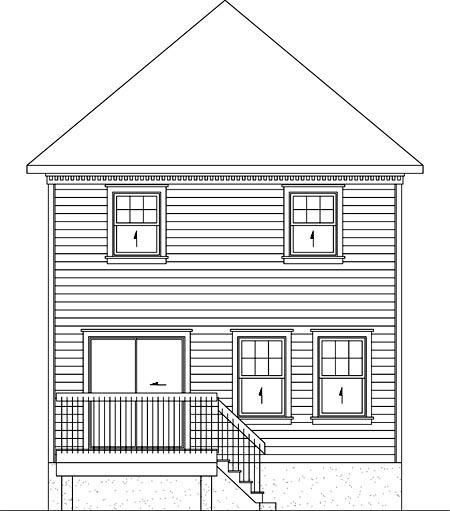 House Plan 52745 Rear Elevation