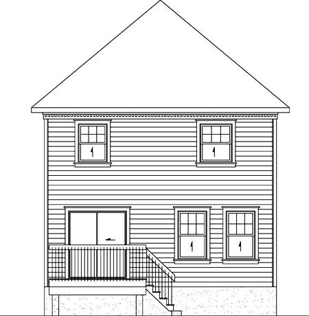 House Plan 52746 Rear Elevation