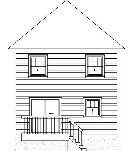 House Plan 52747 Rear Elevation