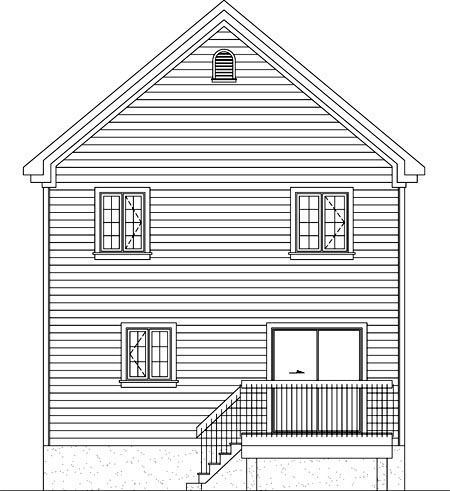 House Plan 52749 Rear Elevation