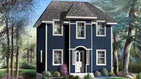 House Plan 52751 | Style Plan with 1259 Sq Ft, 3 Bedrooms, 2 Bathrooms Elevation