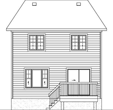 House Plan 52751 Rear Elevation