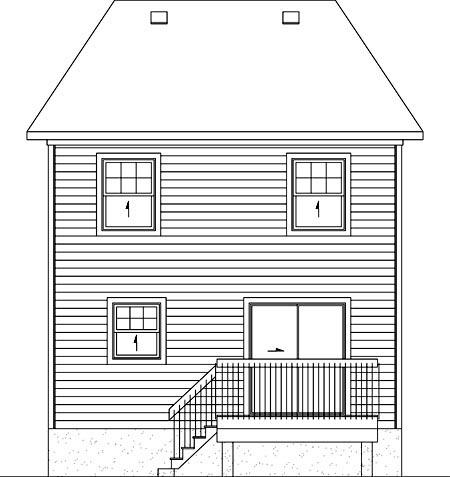 House Plan 52752 Rear Elevation