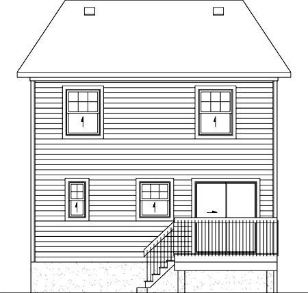 House Plan 52754 Rear Elevation