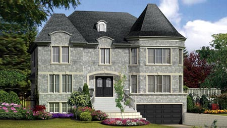 Multi-Family Plan 52759 with 7 Beds, 8 Baths, 2 Car Garage Elevation