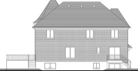 Multi-Family Plan 52759 Rear Elevation
