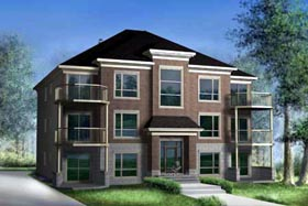 Multi-Family Plan 52764 Elevation