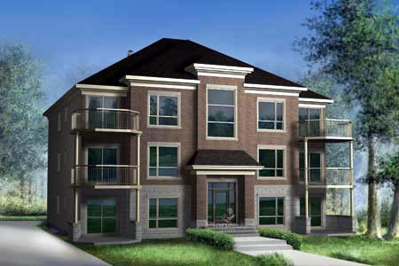 Multi-Family Plan 52764 with 18 Beds , 6 Baths Elevation