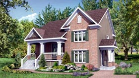 Multi-Family Plan 52766 with 4 Beds, 3 Baths Elevation