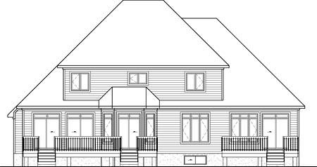 House Plan 52767 Rear Elevation