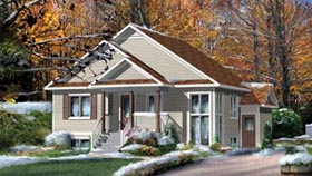 House Plan 52768   Style Plan with 2588 Sq Ft, 4 Bedrooms, 4 Bathrooms Elevation