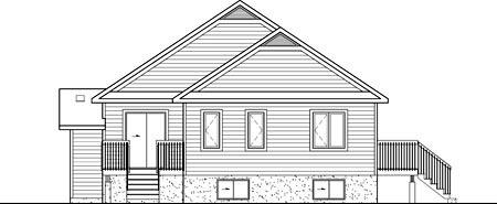 House Plan 52768 Rear Elevation