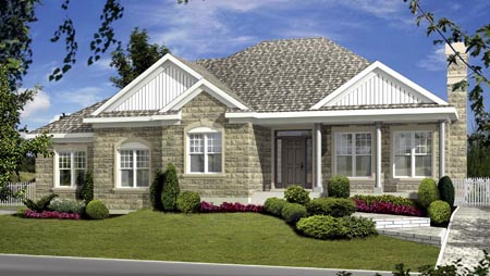 House Plan 52769 with 3 Beds, 4 Baths Elevation