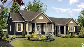 House Plan 52771   Style Plan with 2286 Sq Ft, 4 Bedrooms, 3 Bathrooms Elevation