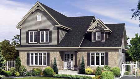 Cottage Country Victorian House Plan 52772 Elevation