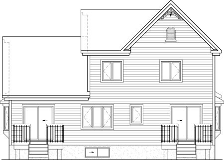 Cottage Country Victorian House Plan 52772 Rear Elevation