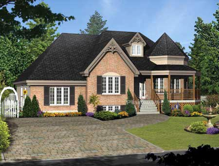 House Plan 52773 Elevation
