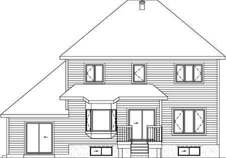 House Plan 52774 Rear Elevation