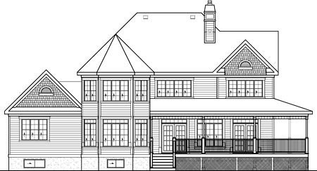 House Plan 52775 Rear Elevation