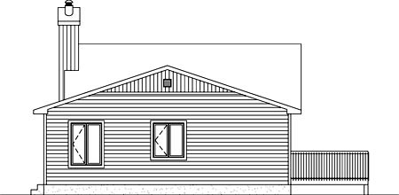 House Plan 52777 Rear Elevation