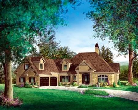 House Plan 52778 Elevation