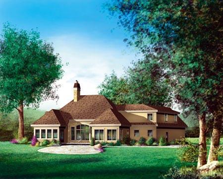 House Plan 52778 Rear Elevation