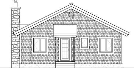 House Plan 52780 Rear Elevation