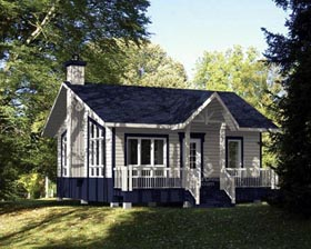 House Plan 52783 with 1 Beds, 1 Baths Elevation
