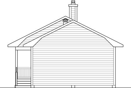 House Plan 52785 Rear Elevation