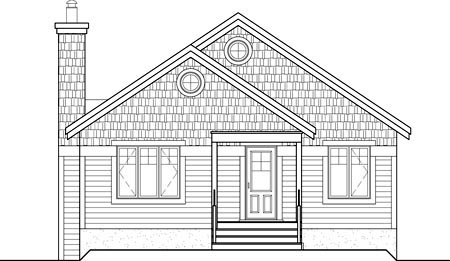 House Plan 52787 Rear Elevation
