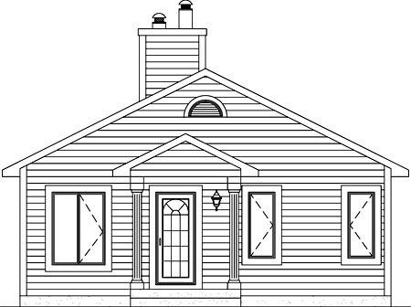House Plan 52788 Rear Elevation